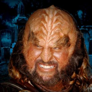 A Klingon At A Human Cemetery