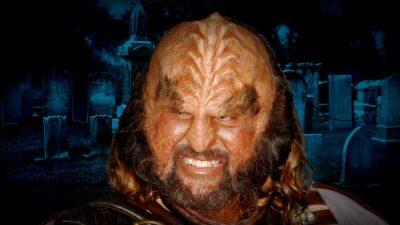 A Klingon At A Human Cemetery