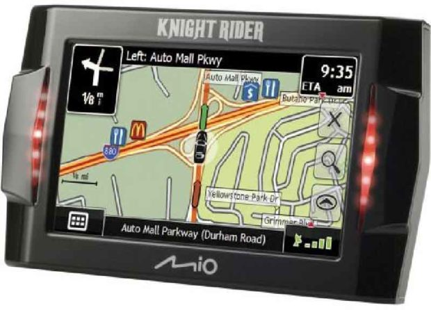 Lcd Screen Of The Knight Rider Gps Receiver