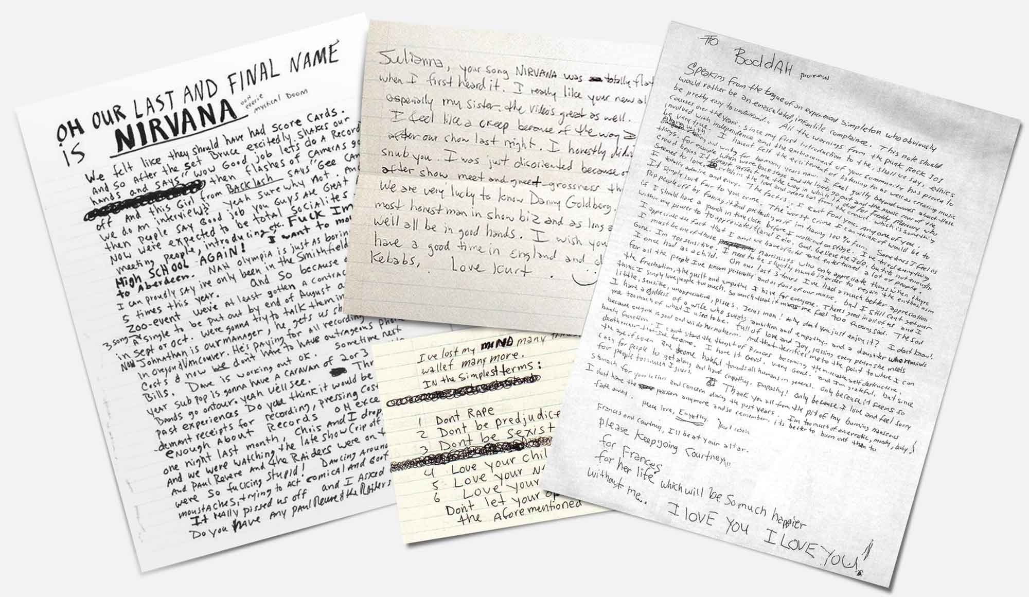 Kurt Cobain Handwritten Letters