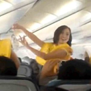 Flight Attendants Dance to Lady Gaga for Safety Demonstration