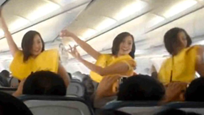 Cebu Pacific Airlines Flight Attendants Dance to Lady Gaga for Safety Demonstration