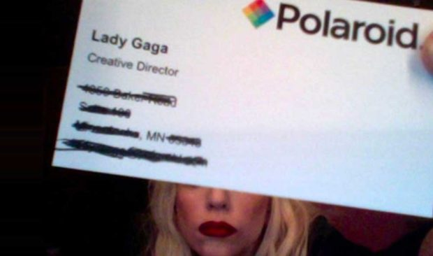 Lady Gaga Business Card - Celebrity Business Cards - Famous Business Cards From Tech Leaders