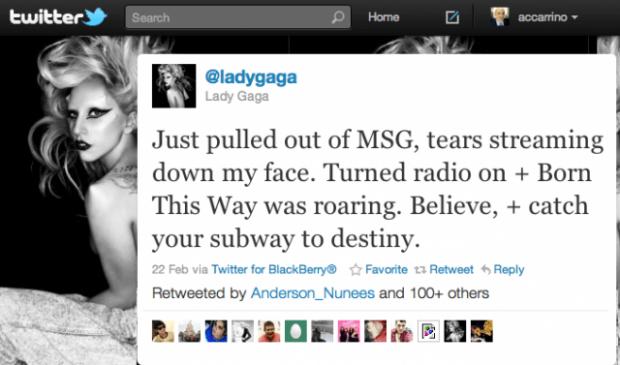 Lady Gaga Tweet - Fandom