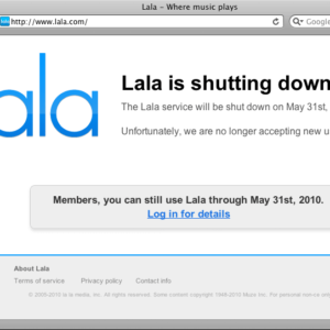 Apple Issuing Lala Refunds After Shutting Down Service