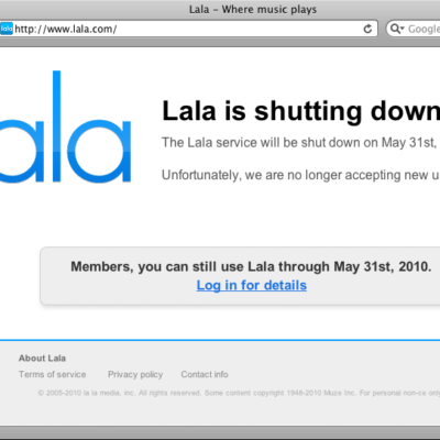 Apple Buys Lala