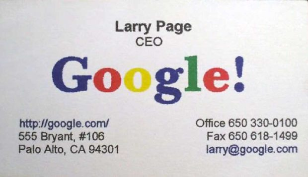 Larry Page Business Card - Ceo Business Cards