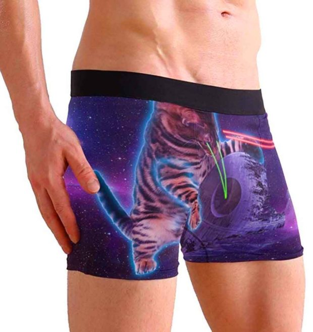 Laser Cats Boxer Briefs - Funny Underwear For Men