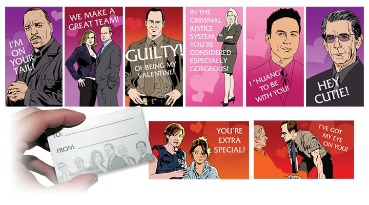 law & order SVU: valentine's day cards