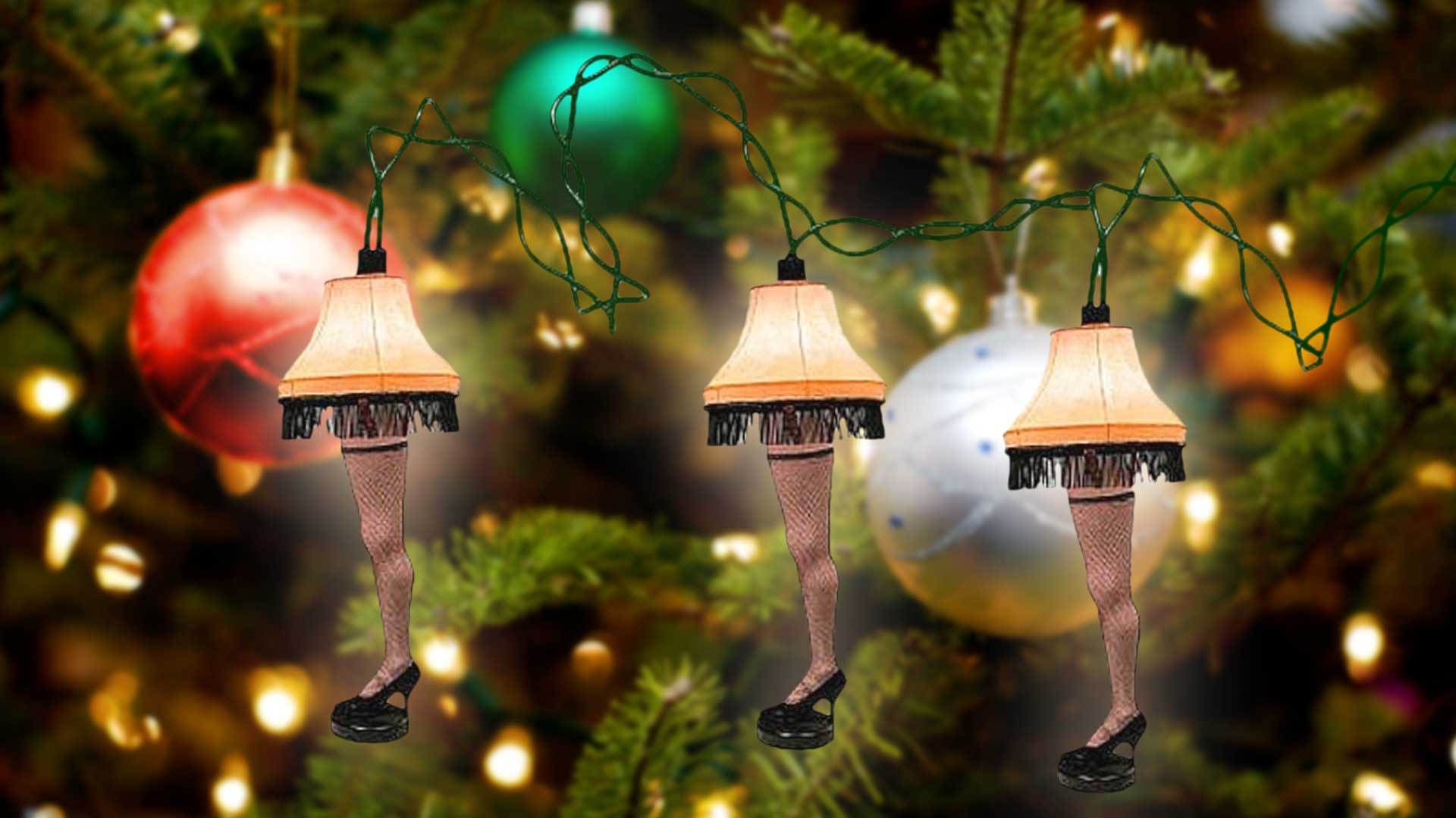 Leg Lamp: Christmas Tree Lights