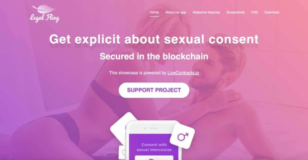 LegalFling Blockchain Sexual Consent