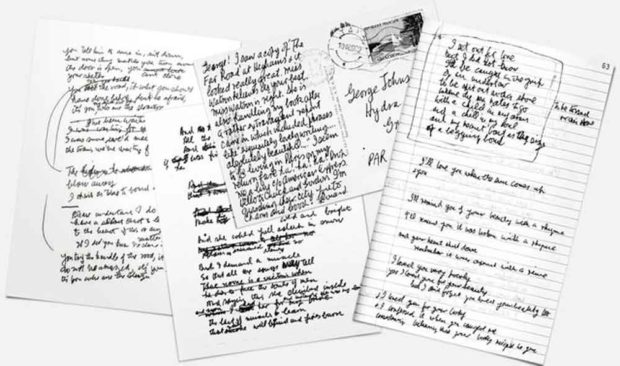 Leonard Cohen's Handwriting