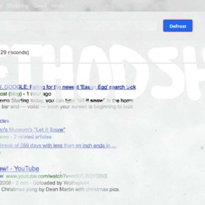 Get A Snowy Surprise With The Google Easter Egg 'Let It Snow'