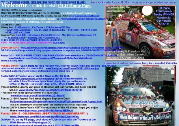 Liberty Van website - Bad Website Design
