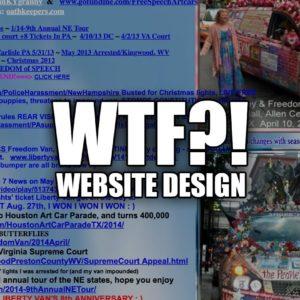 Example Of Incredibly Bad Website Design: LibertyVan.com