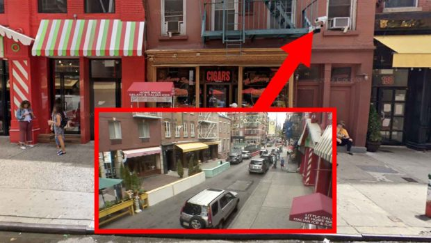 A Webcam In Little Italy Mounted To The Fire Escape At ≪A Href=