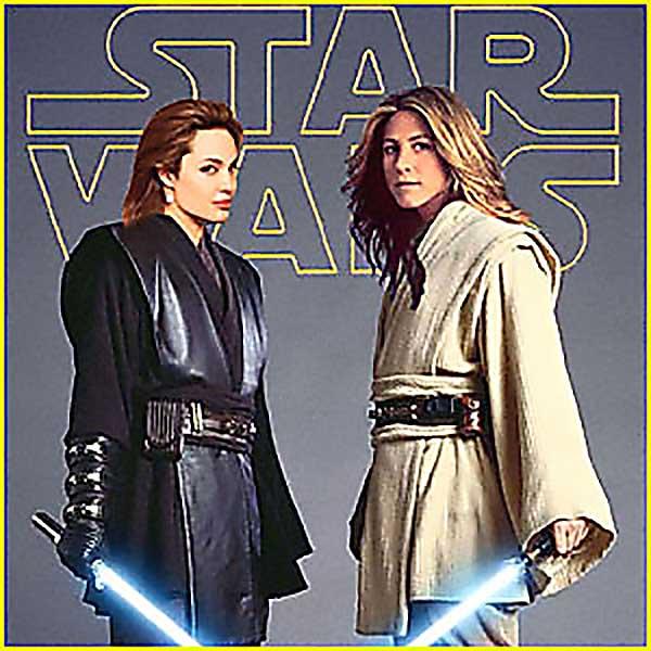 Brad Wars: Angelina Jolie Vs Jennifer Anniston - Funny Star Wars Pictures