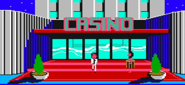 Steve Woz The Apple Man Outside The Casino In Leisure Suit Larry 1
