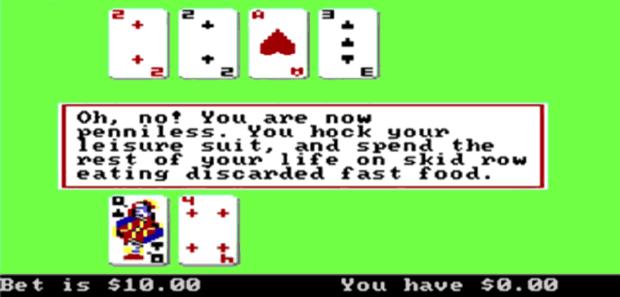 Leisure Suit Larry Blackjack Game