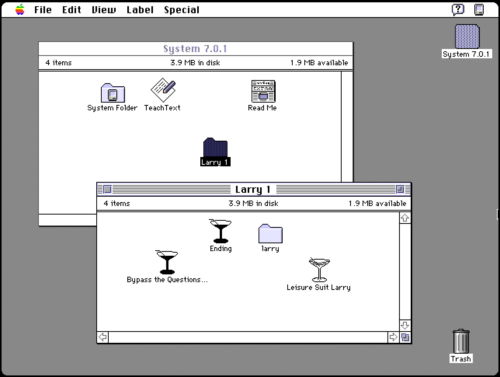 Playing Leisure Suit Larry Games On Classic Computers Like Macintosh System 7