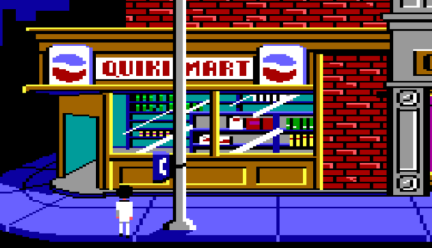The Payphone Outside The Quiki-Mart Convenience Store In Leisure Suit Larry In The Land Of The Lounge Lizards