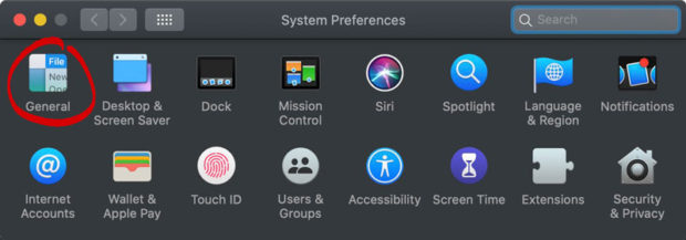 System Preferences - Select General Settings - How To Change Default Browser Mac