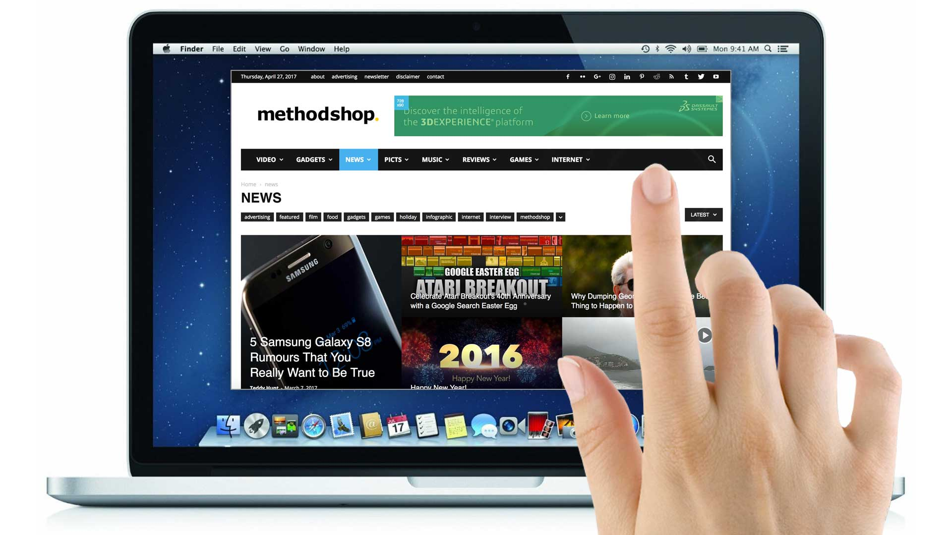 Mockup of a Touch Screen MacBook