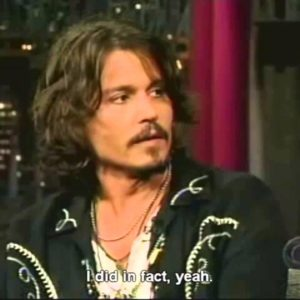 Montage Of Johnny Depp Being Clueless with David Letterman