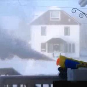 What Happens When You Shoot A Super Soaker In -41° Weather?