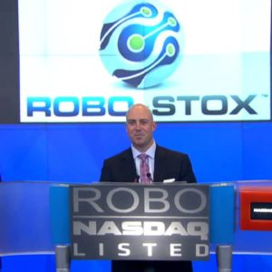 First Robot In History Rings The NASDAQ Closing Bell (2013)