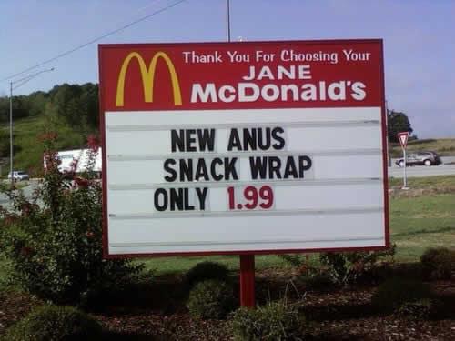 mcdonalds anus wrap