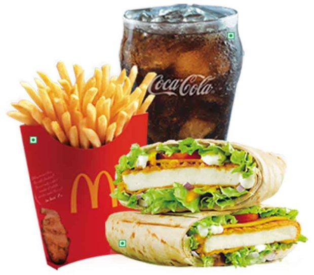 Spicy Paneer Wrap - McDonalds Worldwide Menu