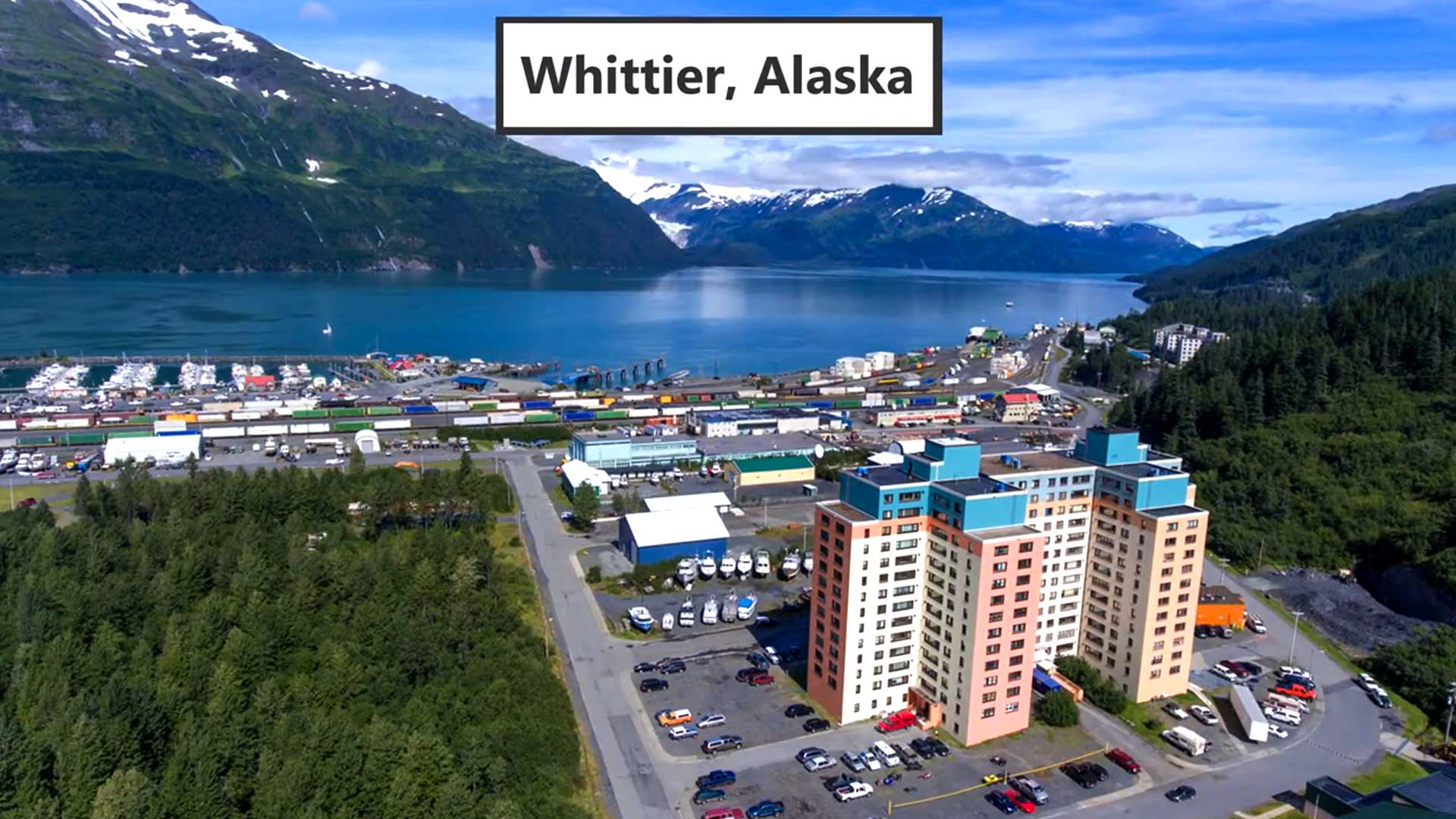 The One Building City Of Whittier, Alaska.