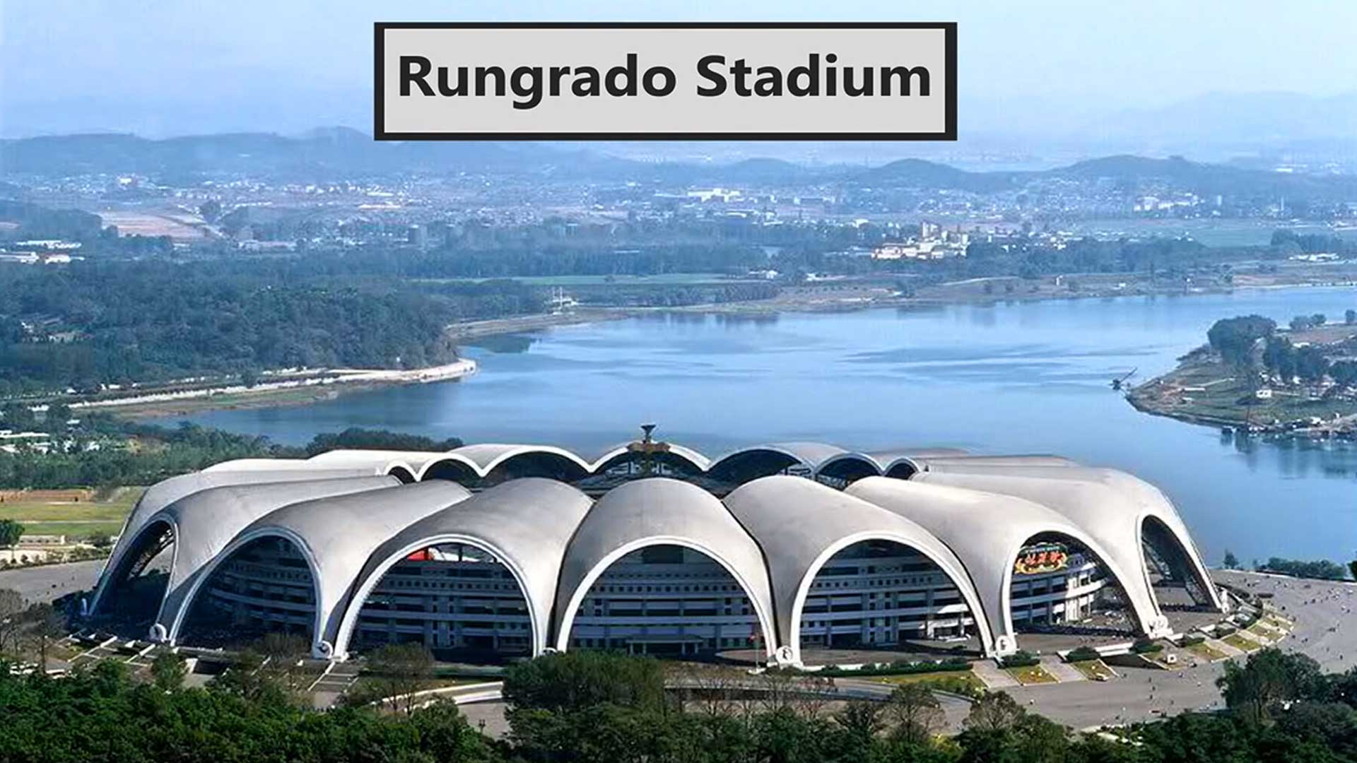 Rungrado Stadium in Pyongyang