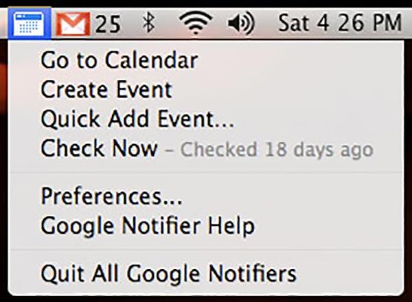 Gmail Mac Menu Extra