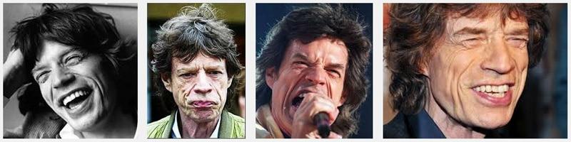 Mick Jagger's face