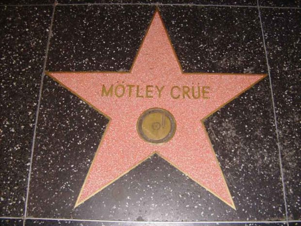 The Mötley Crüe star on the Hollywood Walk of Fame