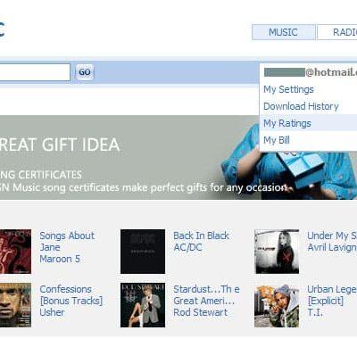 MSN Music Store
