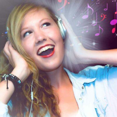 Cute Woman Singing