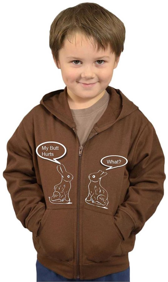 Fleece Kids Hoddie - Easter Bunny (My Butt Hurts)