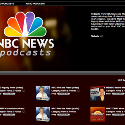 NBC News Podcast page in iTunes
