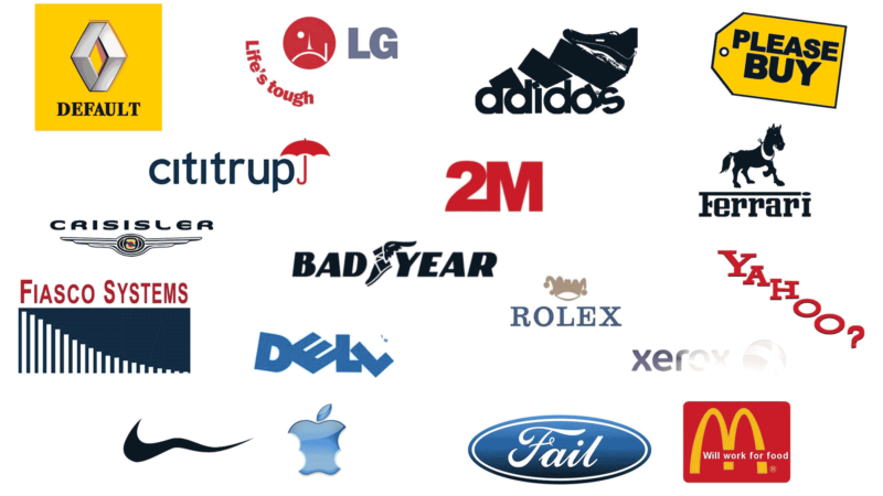 New Logos And Corporate Slogans For A Bad Economy