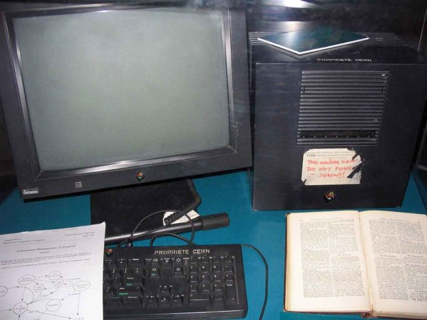 Tim Berners-Lee's NeXTcube - The First Web Server