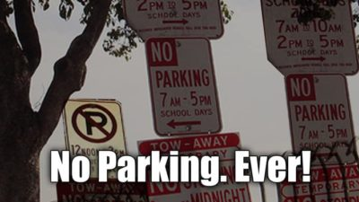 No Parking Ever!