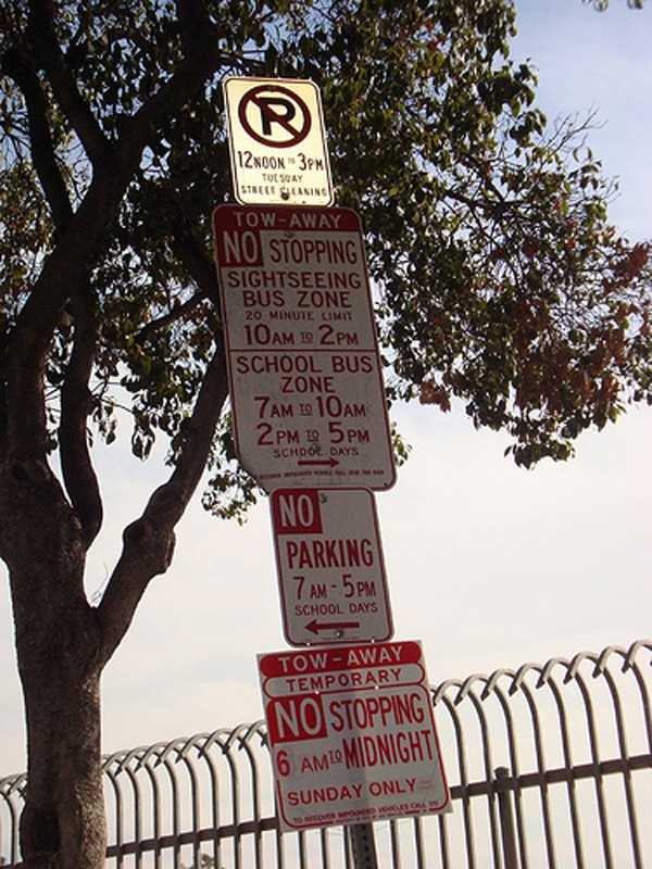 No Parking Ever! - Confusing Parking Signs