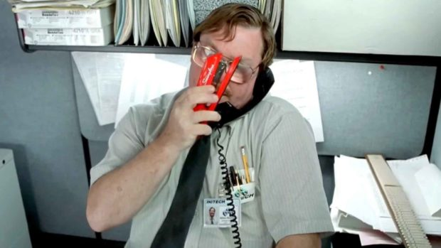 Milton Red Stapler - Office Space Quotes