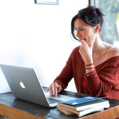 Woman Browsing Online Dating Websites
