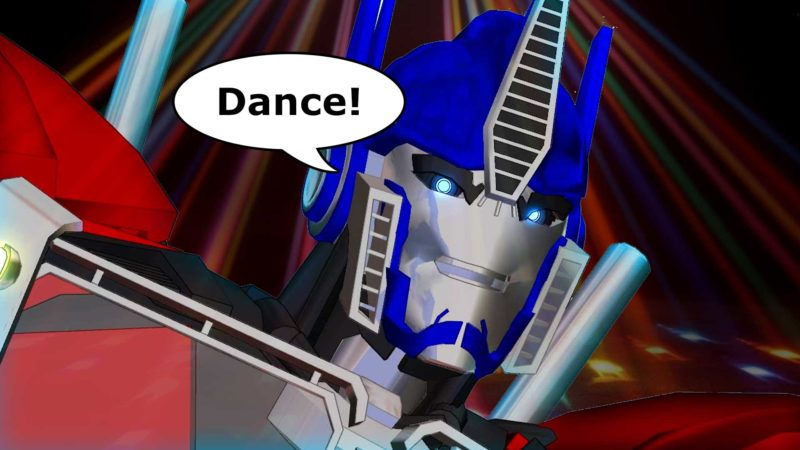 The Evolution of Dance With Optimus Prime