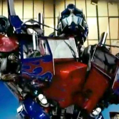 Optimus Prime David Letterman