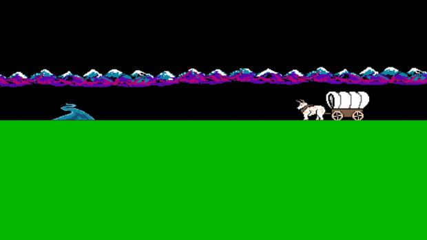 Oregon Trail Background Image For Zoom Or Microsoft Teams